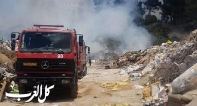أم الفحم: اندلاع حريق في مكب للنفايات
