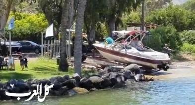 طبريا: إصابة شاب خلال ممارسة رياضة مائية