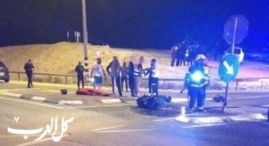 النقب: مصرع سائق دراجة نارية بحادث على شارع 25