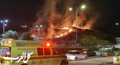 كفرقاسم: حريق كبير قرب منتزة