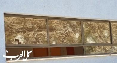 مجد الكروم: تحطيم زجاج نوافذ اعدادية درويش