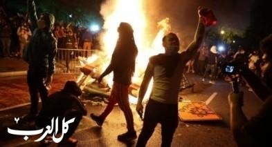 بالصور| متظاهرون يشعلون الحرائق قرب البيت الأبيض