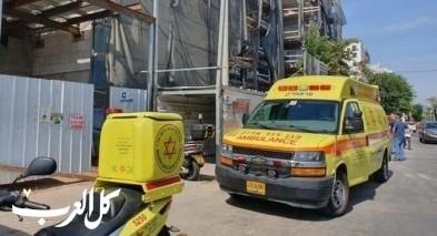 رهط: سقوط عامل عن إرتفاع بورشة بناء