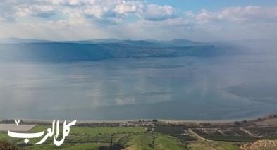 بحيرة طبريا تبلغ مستواها السنوي الأعلى