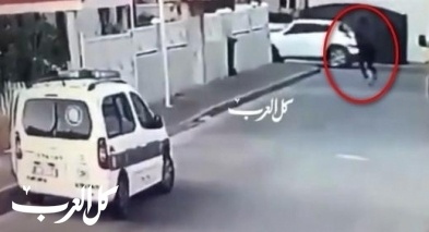 توثيق إطلاق الرصاص في الطيرة على دورية الشرطة