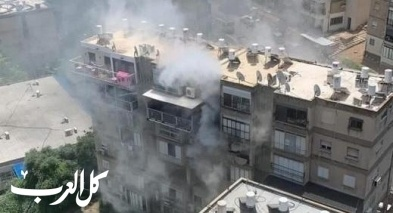 حيفا: إندلاع حريق في مبنى سكني
