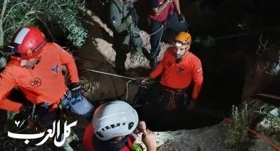 اكسال: انقاذ 3 شبان من الناصرة بعد ان علقوا لساعات داخل مغارة