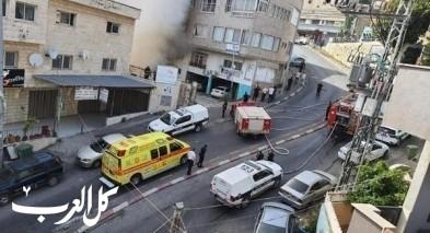 أم الفحم: إندلاع النيران بمنزل في حي الميدان