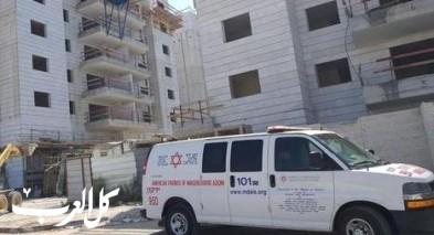 الرملة:إصابة عامل بحادث في ورشة بناء