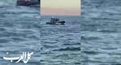 فيديو-انقاذ شخصين سقطا عن دراجة مائية في بحيرة طبريا