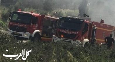 المشهد: إندلاع حريق في منطقة أشواك