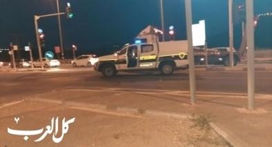 الشرطة تعالج جسمًا مشبوهًا على مفترق الرامة