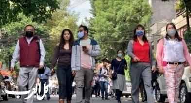 هزة أرضية عنيفة تضرب مكسيكو والناس في الشوارع