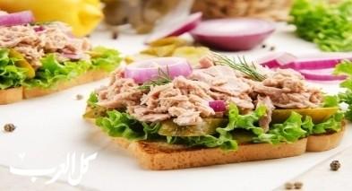 طريقة تحضير ساندويش التونة الصحيّ