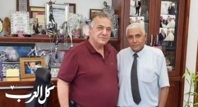 مستشار رئيس الحكومة يجتمع برئيس بلدية الناصرة