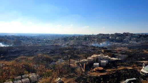 يركا: إندلاع حريق قرب المنطقة الصناعية