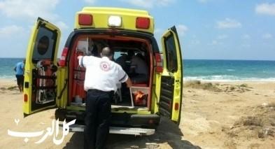 نتانيا: محاولات إنعاش رجل تعرّض للغرق