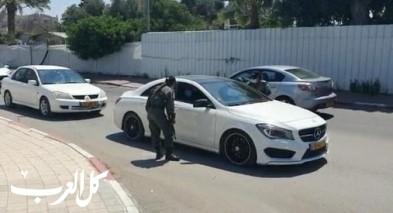 اللد: الشرطة تنتشر بعد تفشي كورونا