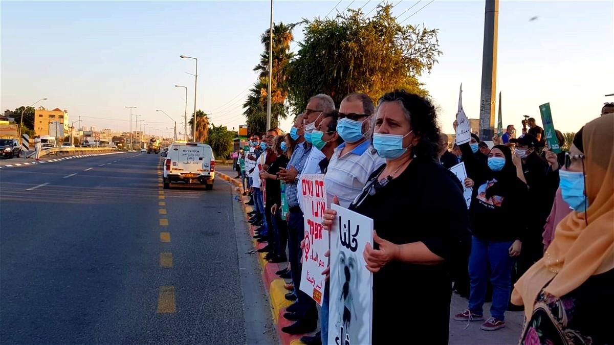 مظاهرة في الطيبة احتجاجا على جرائم قتل النساء