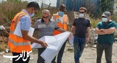 تجهيزات لبدء العمل بشارع الناصرة عيلوط