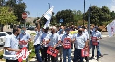 القدس: مظاهرة لسائقي الحافلات العمومية