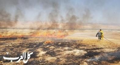 إندلاع حريق بمنطقة وعرية في غور الأردن
