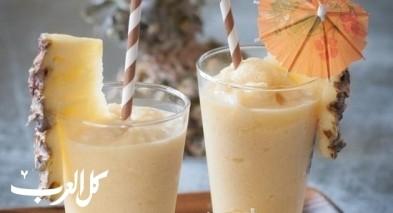 عصير الأناناس مع جوز الهند.. صحتين