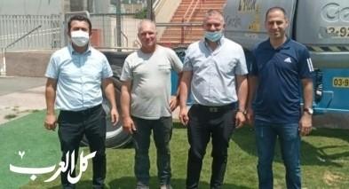 بدء اعمال الصيانة لاستاد الدوحة - سخنين