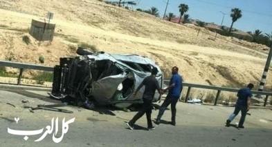 النقب: اصابة شاببن من تل عراد في حادث طرق