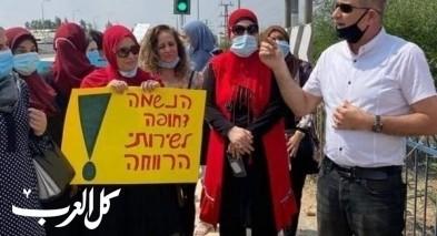 جلجولية: مظاهرة للعاملين الإجتماعيين