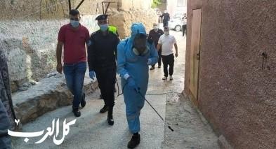 الشرطة تنظم حملة تعقيم في مخيم الأمعري