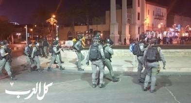 يافا تل ابيب: تجدد المواجهات في اعقاب تجريف مقبرة