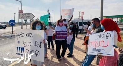 النقب: مواصلة احتجاج العاملين الإجتماعيين