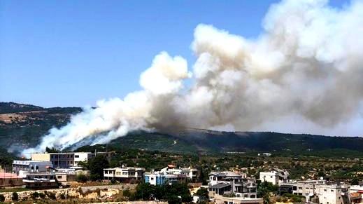 بيت جن: إندلاع حريق بأحراش الزابود