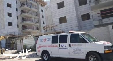 عرابة: إصابة عامل سقط عن إرتفاع بورشة بناء