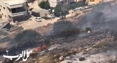 ديرحنا: اندلاع حريق في منطقة اشواك