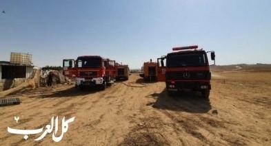 تل عراد: اندلاع حريق في مبنى سكني
