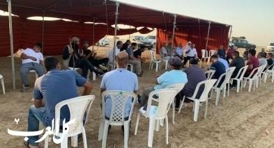 خربة الوطن: خيمة الاعتصام تستضيف ندوة