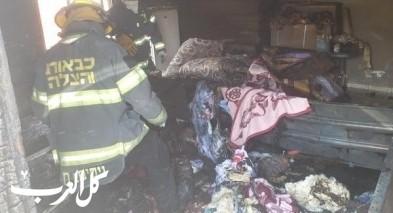 تل عراد: اصابة سيدتين جرّاء حريق