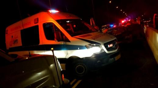 اصابة شابين بجراح خطيرة بحادث طرق على مفرق كفرياسيف