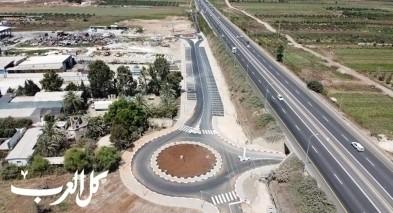 كفركنا|إنتهاء أعمال تطوير مدخل المنطقة الصناعية