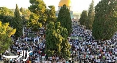 الآلاف شاركوا في صلاة عيد الأضحى بالمسجد الأقصى