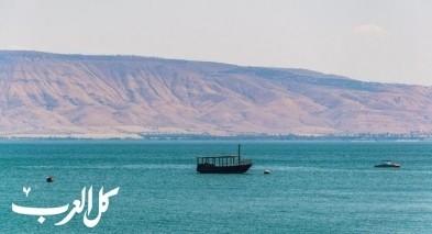 إرتفاع قياسي بمنسوب المياه في بحيرة طبريا