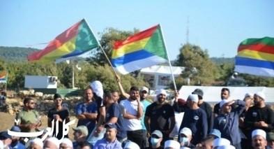 مظاهرة حاشدة دفاعًا عن أرض الزابود