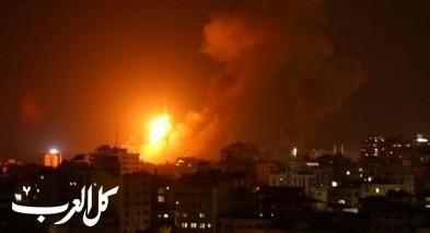 اسرائيل تقصف غزة ردا على اطلاق بالونات حارقة