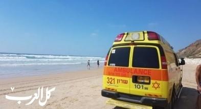 إصابة 4 شبّان تعرّضوا للغرق بشاطئ الزيب