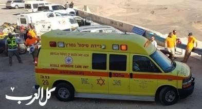إنعاش عامل بعد سقوطه عن علو في مستوطنة بصرة