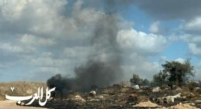 الطيبة: حريق كبير في منطقة الجبيل