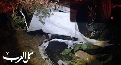 يانوح جت: اصابة 4 شبان وطفل بحادث طرق