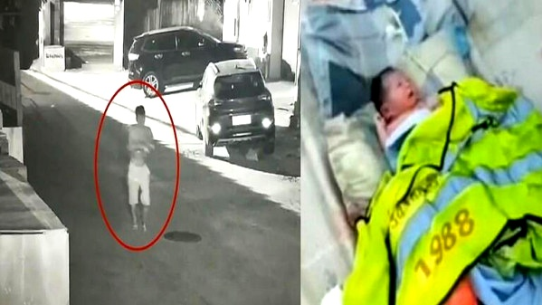 فيديو مروّع: أب يلقي طفلته في النفايات
